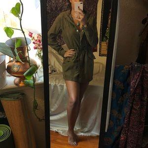 Brandy Melville olive utility jacket